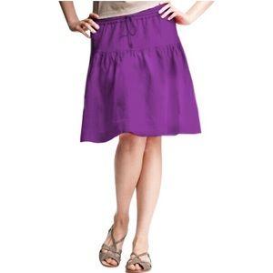 GAP Purple Linen Drawstring Skirt size XL EUC